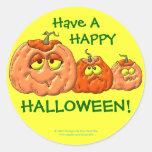 Calabazas de Halloween Etiquetas Redondas
