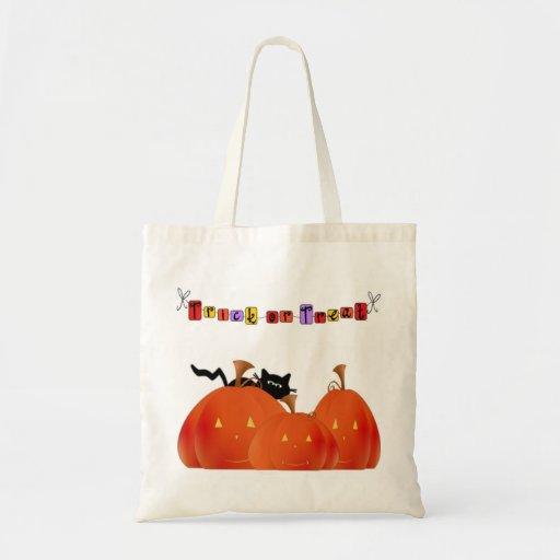 Calabazas de Halloween/gato negro Bolsas