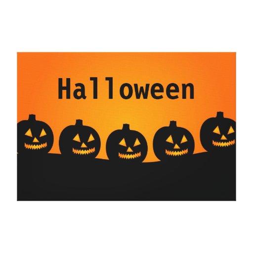Calabazas de Halloween Lona Envuelta Para Galerias