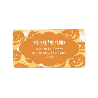 Calabazas de Halloween (mejor premio de hoy) Etiquetas De Dirección