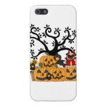 Calabazas de Halloween, pájaros negros y perro del iPhone 5 Protector