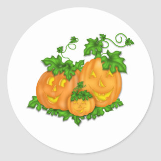 Calabazas de Halloween Pegatinas Redondas