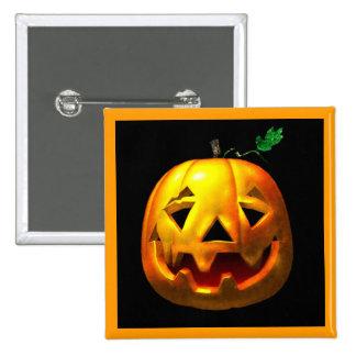 Calabazas de Halloween Pin Cuadrado