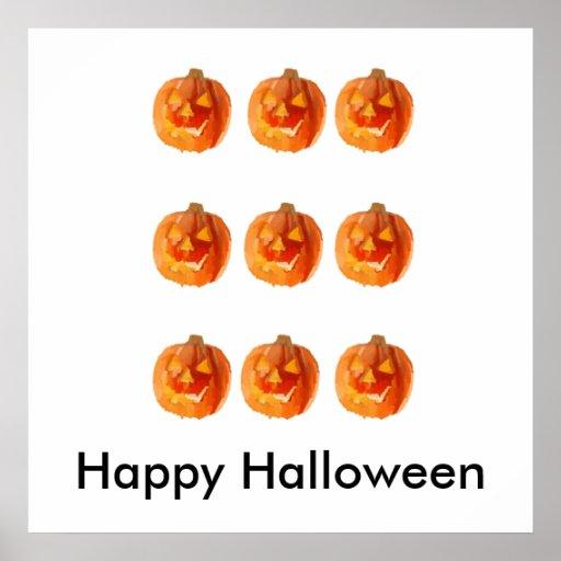 Calabazas de Halloween Poster