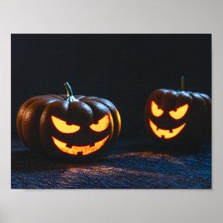 Calabazas de Halloween Póster