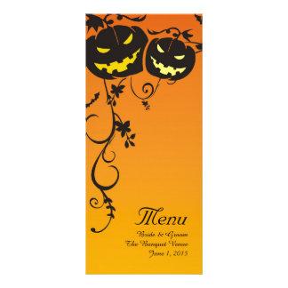 Calabazas de Halloween que casan tarjetas del menú Lonas Publicitarias