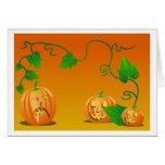 Calabazas de Halloween Tarjetón