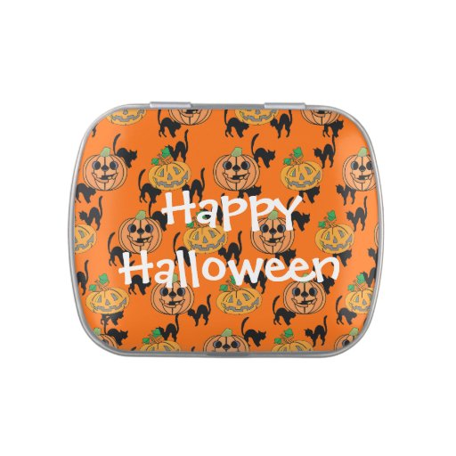 Calabazas de la linterna de Halloween Jack O del Jarrones De Dulces