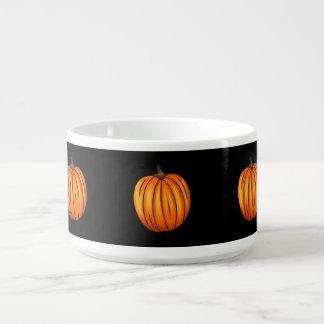 Calabazas de otoño en negro tazón