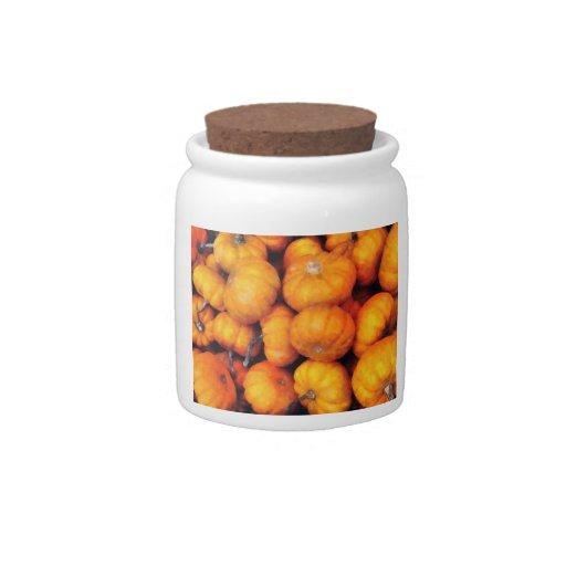 Calabazas del bebé tarro de cerámica para dulces