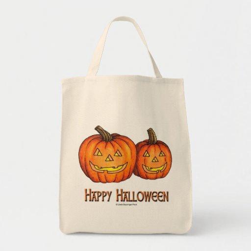 Calabazas del feliz Halloween Bolsas De Mano