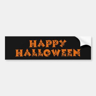 Calabazas del feliz Halloween Pegatina De Parachoque
