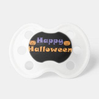 Calabazas del feliz Halloween Chupetes De Bebe