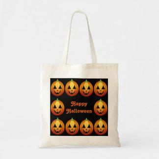 Calabazas del feliz Halloween del bolso Bolsa Tela Barata