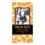 Calabazas del feliz Halloween el   Tarjeta Fotográfica Personalizada