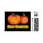 Calabazas del feliz Halloween Franqueo
