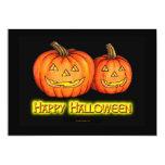 Calabazas del feliz Halloween Invitación 12,7 X 17,8 Cm