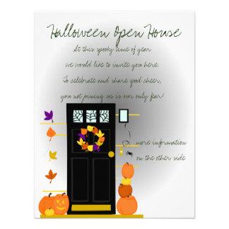 Calabazas en la puerta comunicados personalizados