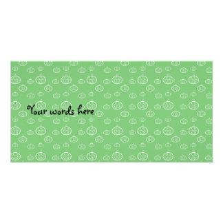 Calabazas en verde tarjetas fotograficas personalizadas