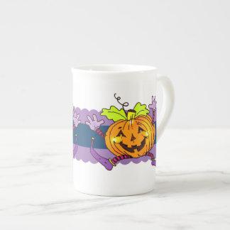 Calabazas felices de Halloween Taza De Porcelana