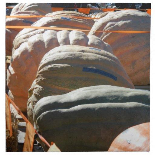 Calabazas gigantes servilleta