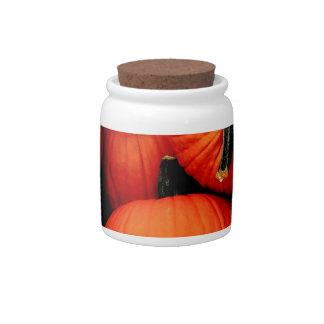 Calabazas para la caída jarra para caramelo