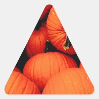 Calabazas para la caída colcomanias de triangulo personalizadas