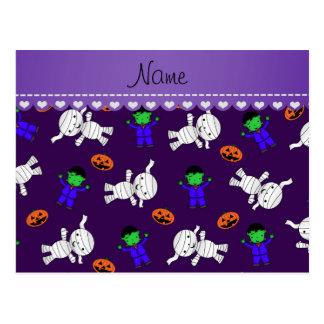 Calabazas púrpuras conocidas de la momia del tarjetas postales
