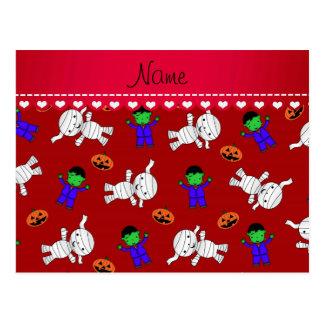 Calabazas rojas conocidas de la momia del postales