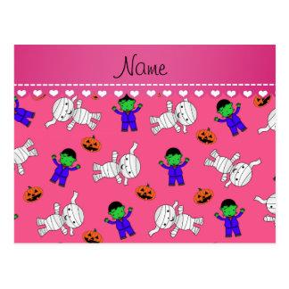 Calabazas rosadas conocidas de la momia del postal