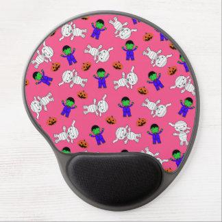 Calabazas rosadas lindas de la momia de alfombrilla de ratón con gel