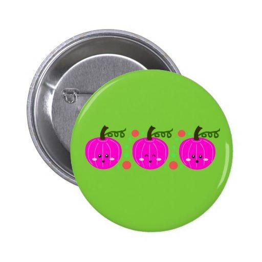 Calabazas rosadas lindas pin redondo 5 cm
