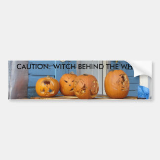 Calabazas talladas de Halloween Pegatina De Parachoque