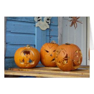 Calabazas talladas de Halloween Tarjeta De Felicitación