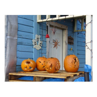 Calabazas talladas de Halloween Tarjeta Postal