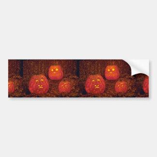 Calabazas talladas decorativas únicas pegatina de parachoque