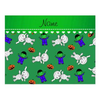 Calabazas verdes conocidas de la momia del tarjetas postales