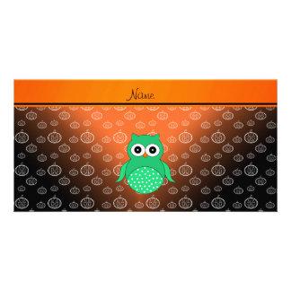Calabazas verdes conocidas personalizadas del tarjeta fotográfica