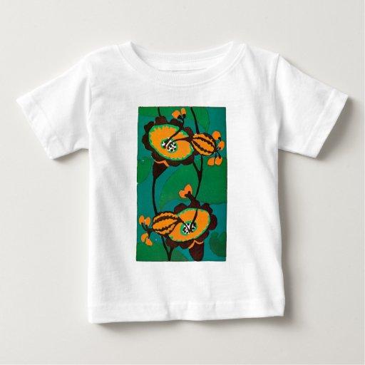 Calabazas y flores playera de bebé