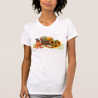 Calabazas y girasoles camiseta