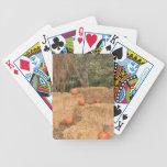 Calabazas y heno baraja cartas de poker