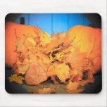 Calabazas y hojas tapetes de ratón
