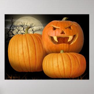 Calabazas y Jack-o-Linterna de Halloween Impresiones