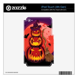 Calabazas y luna roja iPod touch 4G calcomanía