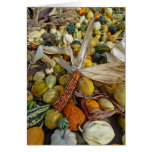 Calabazas y mazorca del otoño felicitaciones
