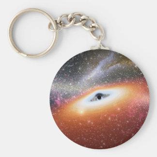Calabozo en el centro de una galaxia llavero redondo tipo pin