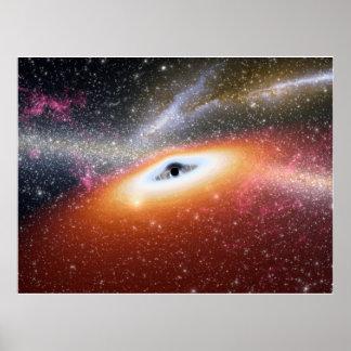 Calabozo en el centro de una galaxia poster