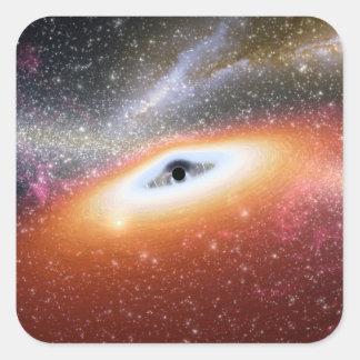 Calabozo en el centro de una galaxia pegatina cuadrada