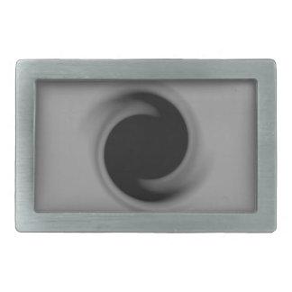 Calabozo que remolina del gris hebilla de cinturon rectangular