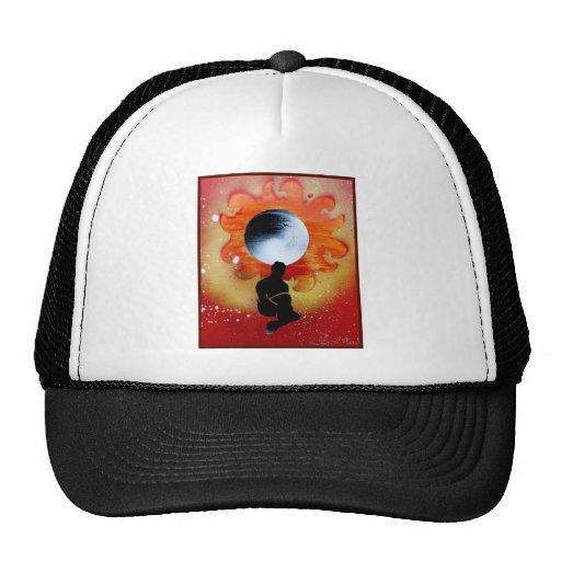 Calabozo Sun detrás del hombre de la sombra Gorros